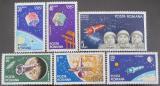 Poštovní známky Rumunsko 1965 Lety na Měsíc Mi# 2369-74