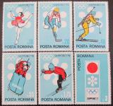 Poštovní známky Rumunsko 1971 ZOH Sapporo Mi# 2984-89