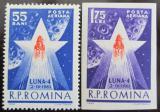 Poštovní známky Rumunsko 1963 Start Luny 4 Mi# 2143-44