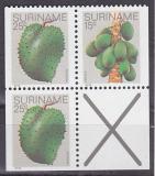 Poštovní známky Surinam 1979 Ovoce, ze sešitku