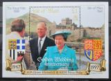 Poštovní známka Ostrov Man 1997 Zlatá královská svatba Mi# Block 31