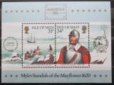 Poštovní známky Ostrov Man 1986 Výstava AMERIPEX Mi# Block 8