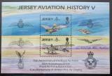 Poštovní známky Jersey 1993 Historie letectví Mi# Block 7