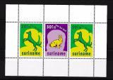 Poštovní známky Surinam 1977 Domácí zvířata Mi# Block 20