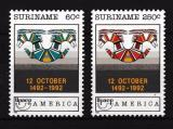 Poštovní známky Surinam 1992 Objevení Ameriky Mi# 1420-21