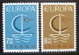 Poštovní známky Island 1966 Evropa CEPT Mi# 404-05