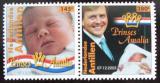 Poštovní známky Nizozemské Antily 2005 Narození princezny Mi# 1262-63