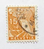 Poštovní známka Švýcarsko 1934 Rhonský ledovec Mi# 273