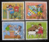 Poštovní známky Švýcarsko 1984 Dětské příběhy Mi# 1284-87