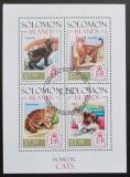 Poštovní známky Šalamounovy ostrovy 2013 Kočky Mi# 2327-30