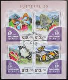 Poštovní známky Šalamounovy ostrovy 2015 Motýli Mi# 3302-05 Kat 17€