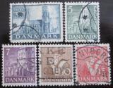 Poštovní známky Dánsko 1936 Reformace kostelů Mi# 228-32