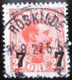 Poštovní známka Dánsko 1927 Král Christian X. přetisk Mi# 174