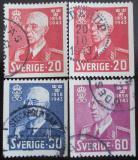 Poštovní známky Švédsko 1943 Král Gustaf Mi# 297-99
