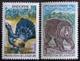 Poštovní známky Andorra Fr. 1971 Fauna Mi# 230-31
