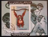 Poštovní známka Adžmán 1973 Opice Mi# Bl A 530 B