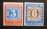Poštovní známky Německo 1949 Sto let známek Mi# 114-15 Kat 90€