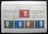 Poštovní známky Německo 1959 Skladatelé Mi# Block 2 Kat 25€