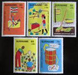Poštovní známky Surinam 1982 Dětské kresby Mi# 997-1001