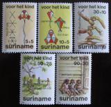 Poštovní známky Surinam 1984 Dětské hry Mi# 1108-12