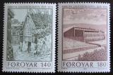 Poštovní známky Faerské ostrovy 1978 Národní knihovna Mi# 39-40