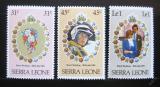 Poštovní známky Sierra Leone 1981 Královská svatba Mi# 636-38