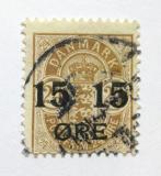 Poštovní známka Dánsko 1904 Erb přetisk Mi# 41