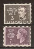 Poštovní známky Lucembursko 1956 Státní rada, 100. výročí Mi# 559-60