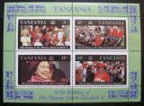 Poštovní známky Tanzánie 1987 Královská rodina Mi# Block 64