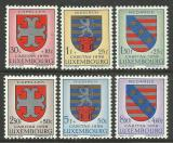 Poštovní známky Lucembursko 1958 Erby Mi# 595-600