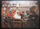 Poštovní známka Britské panenské ostrovy 1986 Královská svatba Mi# Block 28