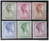 Poštovní známky Lucembursko 1960 Královna Charlotte Mi# 623-28