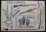 Poštovní známka Gambie 1987 Hudební nástroje Mi# Block 31