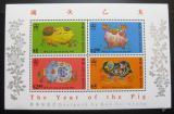 Poštovní známky Hongkong 1995 Rok prasete Mi# Block 34 Kat 20€