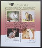 Poštovní známky Guinea 2014 Kočky Mi# 10602-05 Kat 20€