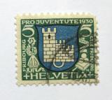 Poštovní známka Švýcarsko 1930 Znak Fribourg Mi# 241