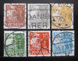 Poštovní známky Dánsko 1927 Karavela Mi# 168-73