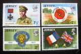Poštovní známky Jersey 1971 Britské legie Mi# 53-56