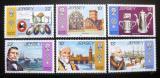 Poštovní známky Jersey 1985 Dědictví Hugenotů Mi# 360-65
