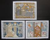 Poštovní známky Lichtenštejnsko 1979 Vyšívání Mi# 738-40
