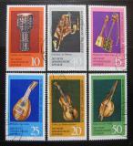 Poštovní známky DDR 1971 Hudební nástroje Mi# 1708-13