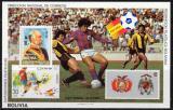 Poštovní známka Bolívie 1982 MS ve fotbale Mi# Block 121 Kat 36€