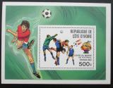 Poštovní známka Pobřeží Slonoviny 1981 MS ve fotbale Mi# Block 24