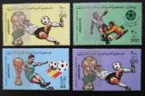 Poštovní známky Libye 1982 MS ve fotbale, přetisk Mi# 990-93