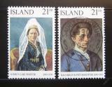 Poštovní známky Island 1990 Slavné ženy Mi# 724-25