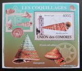 Poštovní známka Komory 2009 Maják a škeble deluxe Mi# 2090