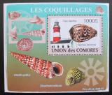 Poštovní známka Komory 2009 Maják a škeble deluxe Mi# 2091