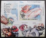Poštovní známka Komory 2011 Lastury,škeble neperf. Mi# 2962 B