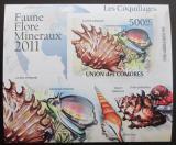 Poštovní známka Komory 2011 Lastury,škeble Deluxe Mi# 2960 B