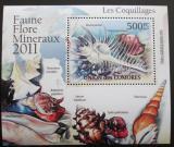Poštovní známka Komory 2011 Lastury,škeble Deluxe Mi# 2963